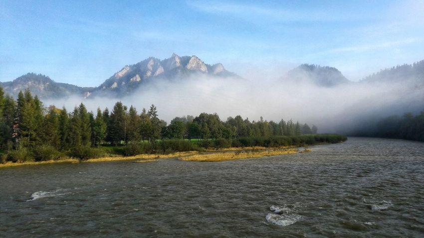 Dunajec Dunajec River Beauty In Nature Day Fog Idyllic Landscape Mountain Nature Outdoors Pieniny Scenics Sky Tranquil Scene Tranquility Tree Water