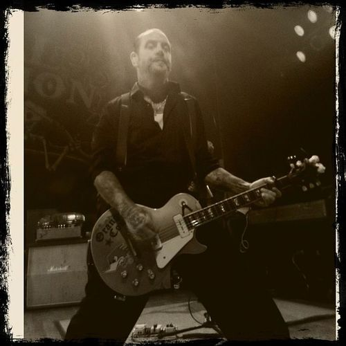 Possibly the sexiest man alive...Mikeness @socialdistortion Rockabilly Rock Band musicawesomehouseofblues storyofmylife