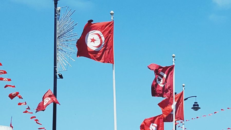 Flags Tunisia Flags Tunisia Tunis Flag Patriotism Politics And Government Politics Flag Patriotism Red Pride Politics And Government Democracy Waving