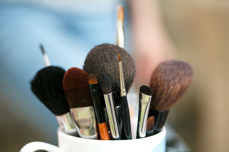 Day Make-up Indoors  Close-up Brush Palette Paintbrush No People Desk Organizer Make-up Brush Focus On Foreground Selective Focus Still Life Choice Variation Indoors  Large Group Of Objects Art And Craft Table Brown Creativity Craft Art And Craft Equipment Beauty Product Personal Accessory Blush - Make-up The Modern Professional