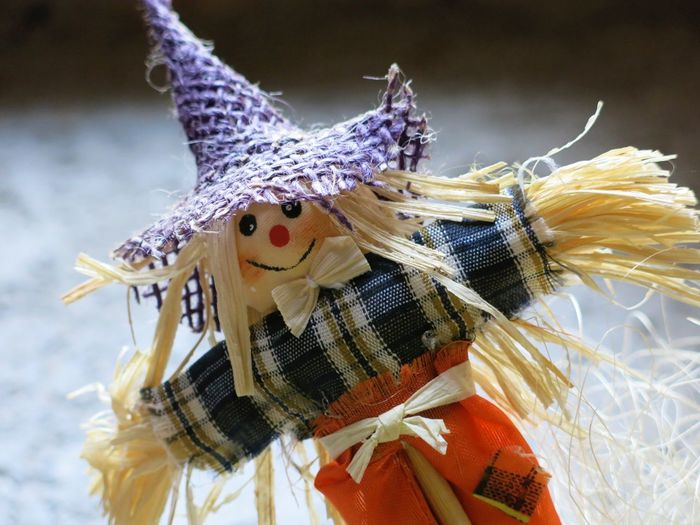 Close-up of scarecrow toy