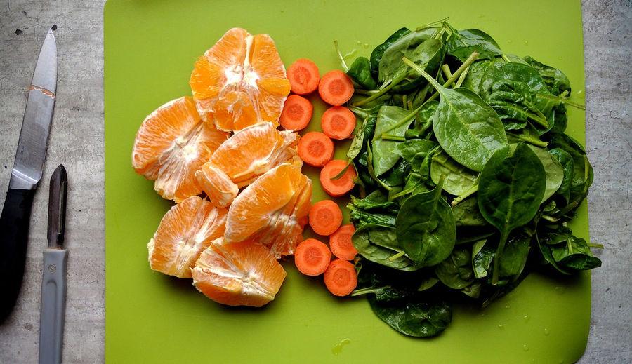Close-up of fresh ingredients
