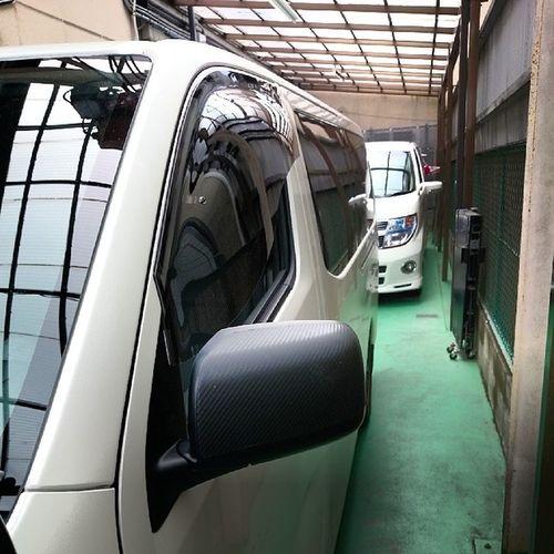 OXバイザー取付完了(`・ω・´)ゞ E26  NV350  Car  Caravan  nissan nismo
