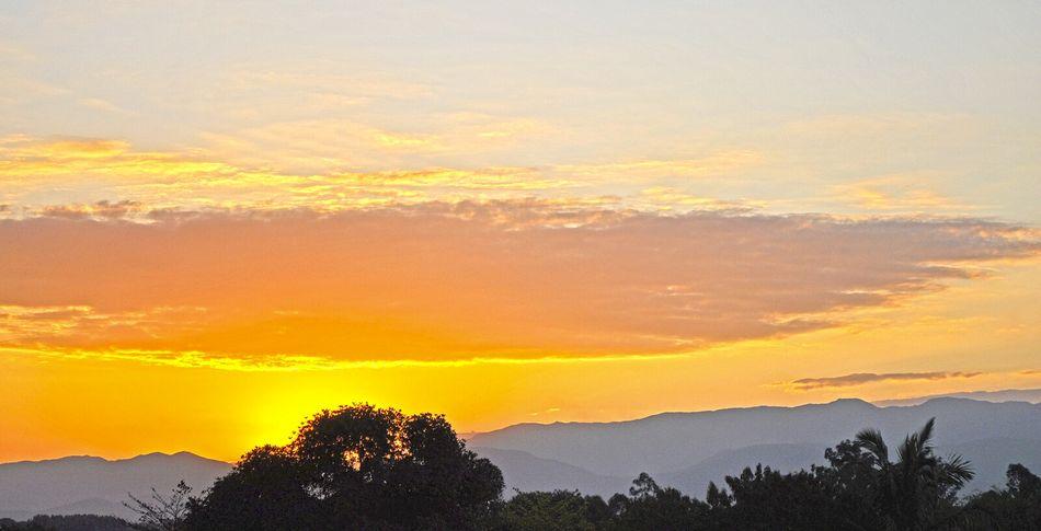 Sunset Sky And Clouds Sunset Colors Nature_collection Landscape Nature Trees Serra Da Mantiqueira Pindamonhangaba Brazil