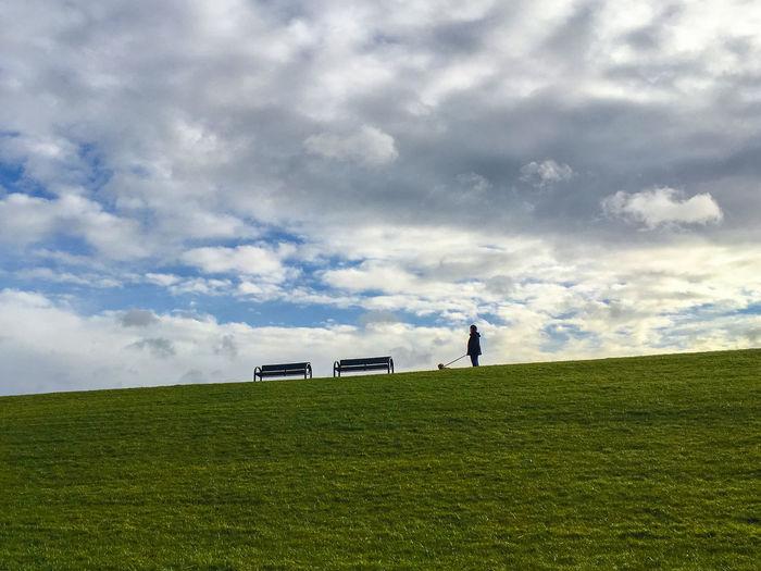 Deich, Norden-Norddeich, Germany Cloud Cloudy Deich  Deutschland Dike Grass Green Küste Norddeich Norddeutschland Norden-Norddeich Nordsee Northsea Ostfriesland Outdoors Lost In The Landscape EyeEm Ready