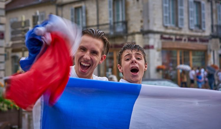 Winners Winner Weltmeister We Are The Champions FIFA World Cup Russia France Worldchampions  Les Bleus Champions Fifa2018 Men Emotion Happiness Architecture Adult Two People Love The Game Togetherness Young Adult Young Men Mouth Open Real People