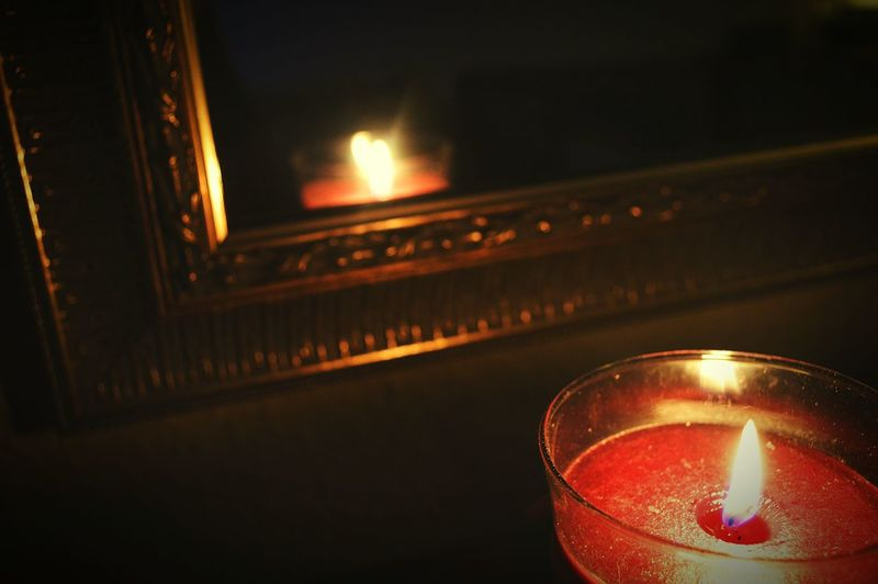Candle Candles Burning Candles By Candlelight Candle Light Candlelight Candle Flame Mirror Mirrors Edge Mirrors Mirror Reflection Mirror Frame Red Candles Gold Frame Reflection Reflections Nikon D3200