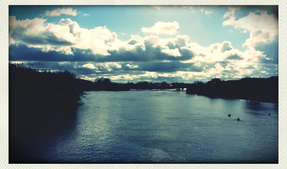 street view from le pont neuf de Toulouse. Sky