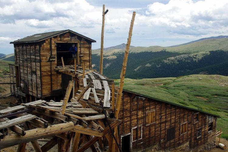 Mountain Landscape Scenics Argentine Pass Santiago Mine Mining Heritage Mining History Of America Colorado Colorado Photography