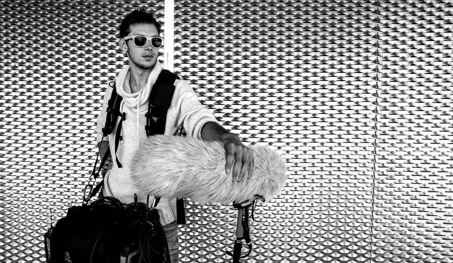 One Person Day EyeEm Still Life Portrait Engineer Of Sound Cinema Shooting Day Filmmaking EyeEm Best Shots Black & White Futuristic Deadcat Metallic Station Train TakeoverMusic