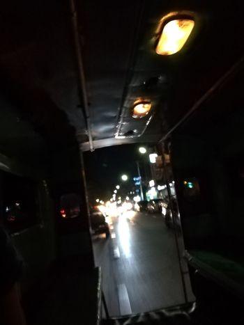 Mini bus Travel Thailand Nightphotography Light Night Lights No People Huawei P9 Leica Cultures