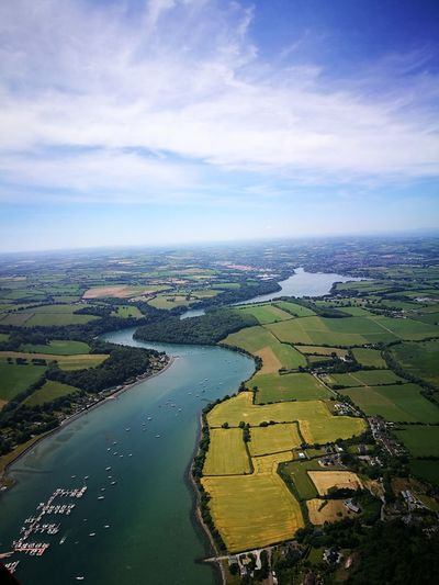 Crosshaven Learntofly Aerial View Helicopter Cork Ireland Flying In The Sky Skywest  Estuary The Great Outdoors - 2018 EyeEm Awards Golf Course Rural Scene Aerial View Agriculture Water Patchwork Landscape Sky Landscape