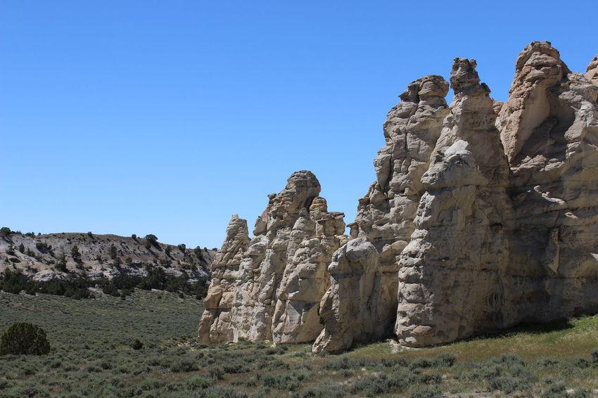 Sagebrush Castle Gardens near Tensleep, Wyoming. Wyoming Erosion Effects Rock Formation Wyoming Landscape Distant Background Valley
