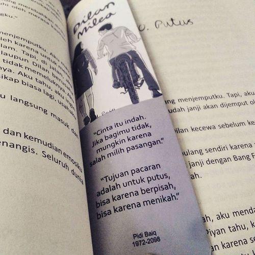 Dia adalah Dilanku tahun 1991 ♥ Novel Love Dilan Milea pidibaiq pidibaiquotes
