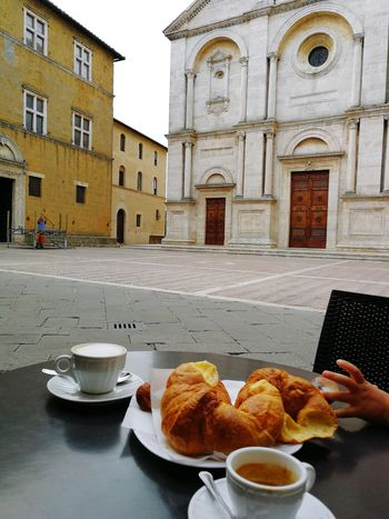 Food And Drink Food Breakfast Croissant Plate Table Indulgence Sweet Food Bread Building Exterior Drink Architecture Temptation Freshness Indoors  Ready-to-eat Healthy Eating Day No People Italian Food Italian Lifestyle Italianbreakfast Italian Breakfast Toskana Tuscany
