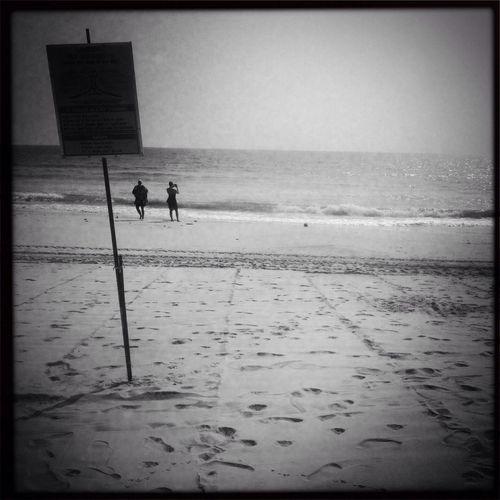 Blackandwhite Taking Photos Being A Beach Bum