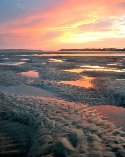 East Beach at Low Tide Beach Beauty In Nature Dramatic Sky Low Tide No People Sea Sky Sunset Lost In The Landscape Perspectives On Nature