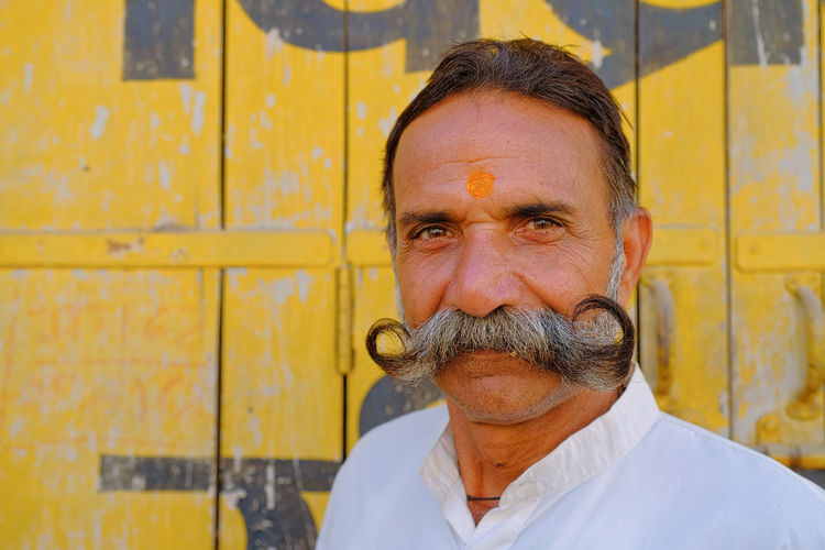 Local people of Mandawa, India. Mandawa, Rajasthan Adult Beard Facial Hair Front View Headshot Human Face Leisure Activity Lifestyles Looking At Camera Males  Mandawa Mature Men Men Mustache One Person Portrait Real People Senior Adult Senior Men Wall - Building Feature Wrinkled