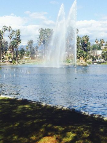 Rainbow Park Echo Park  Water Fountain Beautiful Day Nature Nature_collection Scenery Scenery Shots Sunny Day