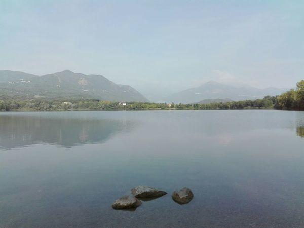 Lago piccolo di Avigliana a Avigliana Torino Italy Italia Lake Autumn