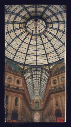 Ceiling Architecture Indoors  Low Angle View Built Structure No People Dome Day Milan Milano People Architecture Italy Italia Center Centro