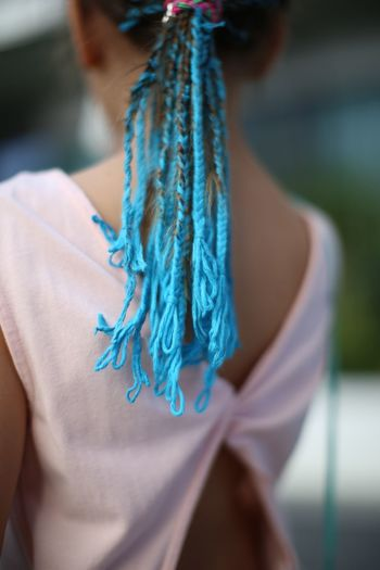 Small Braids косички Focus On Foreground One Person Close-up Real People Blue Women Lifestyles Textile Clothing Selective Focus Fashion Day Human Body Part Pattern