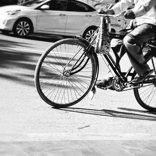 Cyclist Cycle Slow Thedifference Car Bnw Blackandwhite Monochromacy Monochromacy Road Busstop Shadows Lights GoingToWork Alone Mobilephotography Motog3rdgen Motog3 Streetphotography Snapseeded Snapseed Blurred Instablackandwhite Instaedit Instamonochrome motion keepmoving indianphotography cripixtmovement explorevisuals