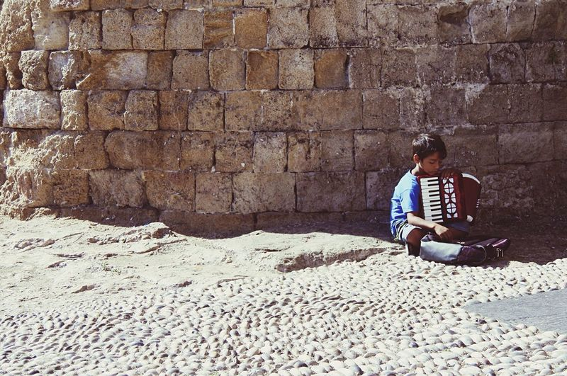 Streetphotography Traveling Greece Rhodes Scenery Shots Kids Working Hard Life Is Not Fair Think About... The Week On EyeEm