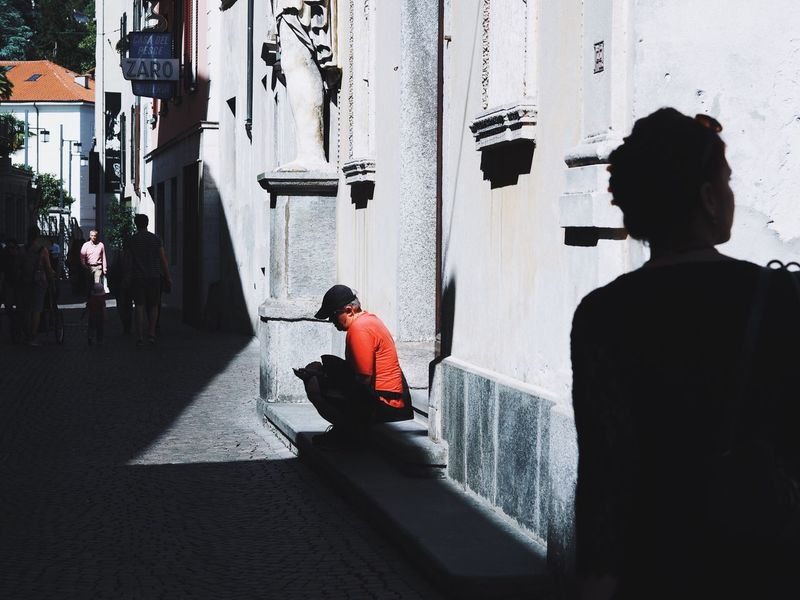 Light And Shadow Streetphotography Street Photography Urban Contrast Layering The Street Photographer - 2016 EyeEm Awards People Street Walking Around Locarno, Switzerland Waiting Game