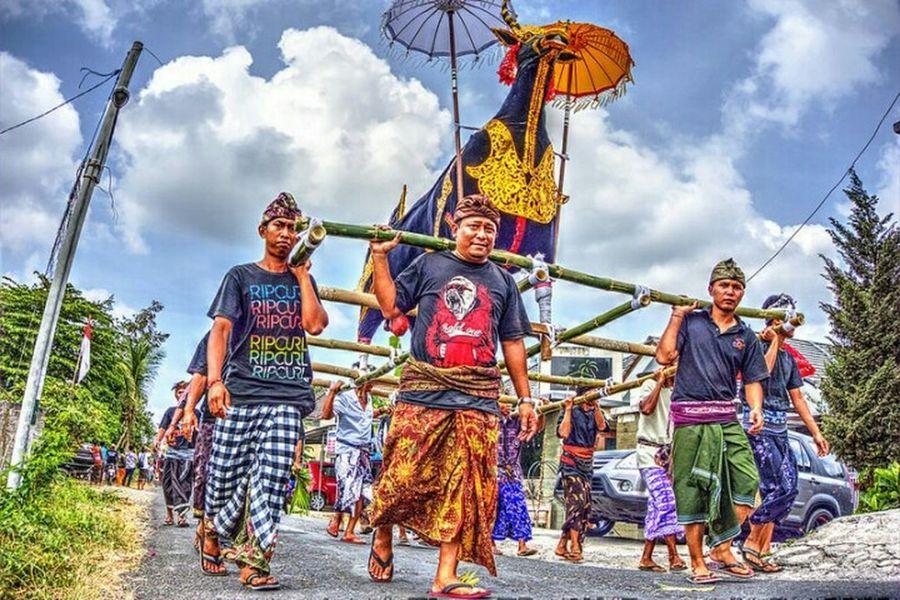 Bali Ngaben Ceremony at Br Bedha Bongan Tabanan Bali, Indonesia Streetphotography