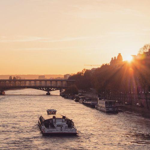 Bridge And River, Paris, France