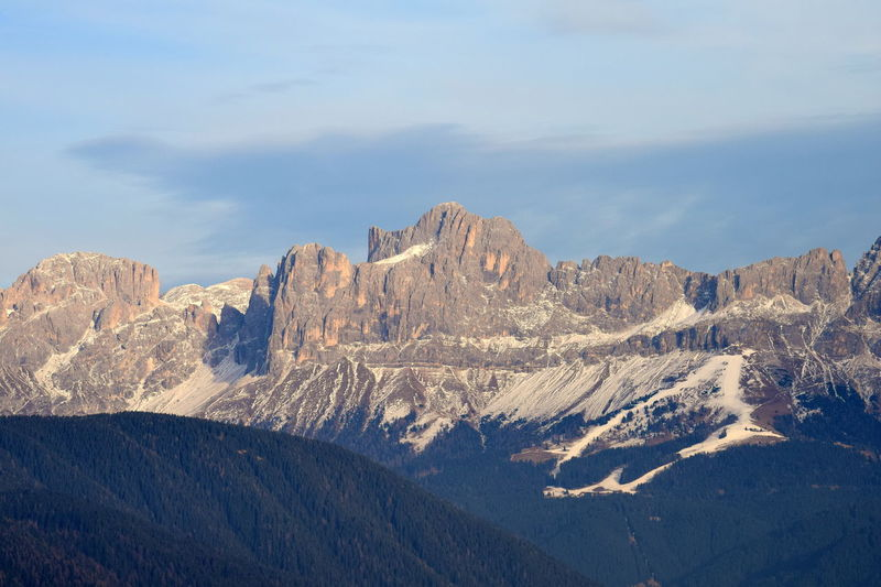 Alto Adige Arid Climate Catinaccio Cliff Dolomites Geology Italy Landscape Majestic Mountain Mountain Range Non-urban Scene Physical Geography Rock Rock - Object Rock Formation Rocky Rocky Mountains Rosengarten Rough Scenics Snow South Tyrol Tranquil Scene Winter
