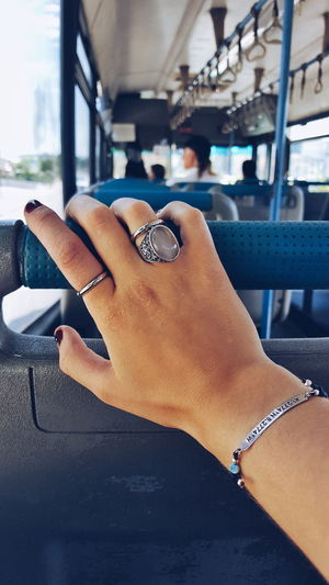 Human Body Part Human Hand Ring Jewelry One Person Close-up Indoors  One Woman Only People Arts Culture And Entertainment Only Women Real People Nail Polish Day Bus Road Travelling Samsung Galaxy S6 Edge PhonePhotography Phonecamera Portugal Perspective Photography Walking Around Multi Colored