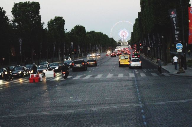 EyeEmNewHere The City Light Car Transportation Paris Travel