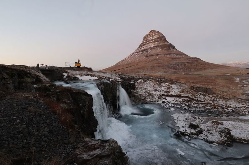 Kirkjufell Snaefellsnes Peninsula Iceland Europe Iceland Snæfellsnes Snaefellness Penninsula Kirkjufellsfoss Kirkjufell EyeEm Selects Sky Water Scenics - Nature Beauty In Nature Sea Nature Clear Sky Rock Motion No People Tranquil Scene Day Rock - Object Non-urban Scene Solid Tranquility Land Beach Outdoors Power In Nature
