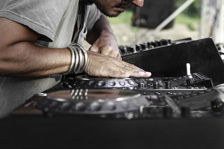 Close-Up Of Disc Jockey