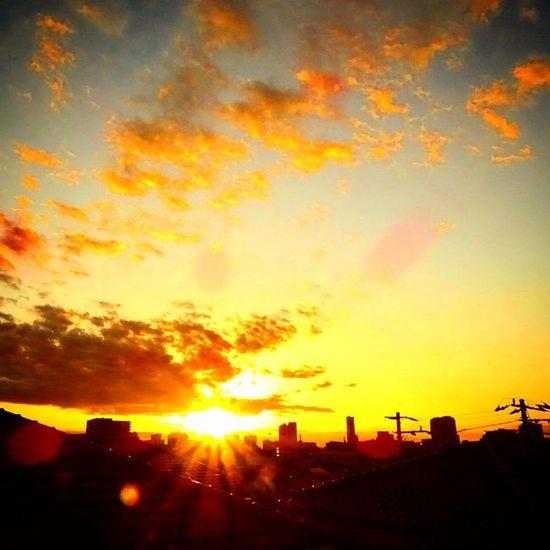 昨日の夕日。 Sunset Makuhari