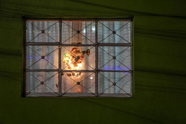 Illuminated window in building