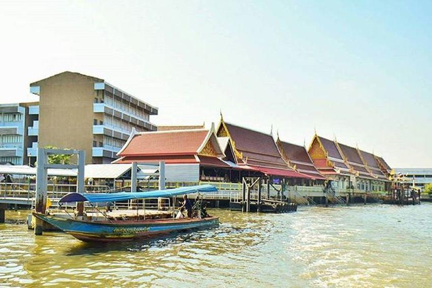 ริมน้ำ Chaophraya Temple River Landscape Bangkok Thailand Amazingthailand