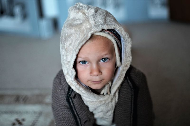 Just Before A Walk Boy Childhood Childhood Memories Cold Temperature Cute First Eyeem Photo Looking At Camera Personality And Attitude Portrait Warm Clothing Winter