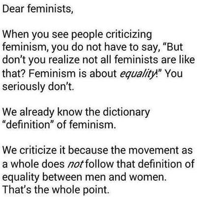 Feminism Feminazism Feminists Feminazis