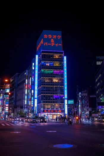 Night life Japan Tokyo Night Illuminated Night Architecture City Building Exterior Built Structure Transportation Street Travel Destinations City Street