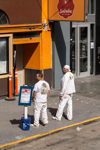 Men at work... California Chilling Having A Break Men At Work  Men In White Painters People Watching SAN FRAN San Francisco San Francisco, California Streets Travel Travel Photography Work Workers Chatting City Men People people and places People Photography Street Street Photography Street Scene Street Scenes