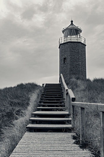 Quermarkenfeuer Rotes Kliff Sylt Sylt, Germany Leuchtturm Architecture Built Structure Direction Building Exterior Tower Cloud - Sky Staircase No People The Way Forward Lighthouse Building Steps And Staircases Guidance Outdoors Quermarkenfeuer Rotes Kliff Lighthouse Tower