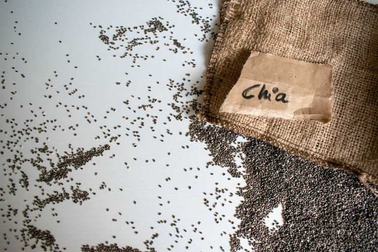 chia seeds on