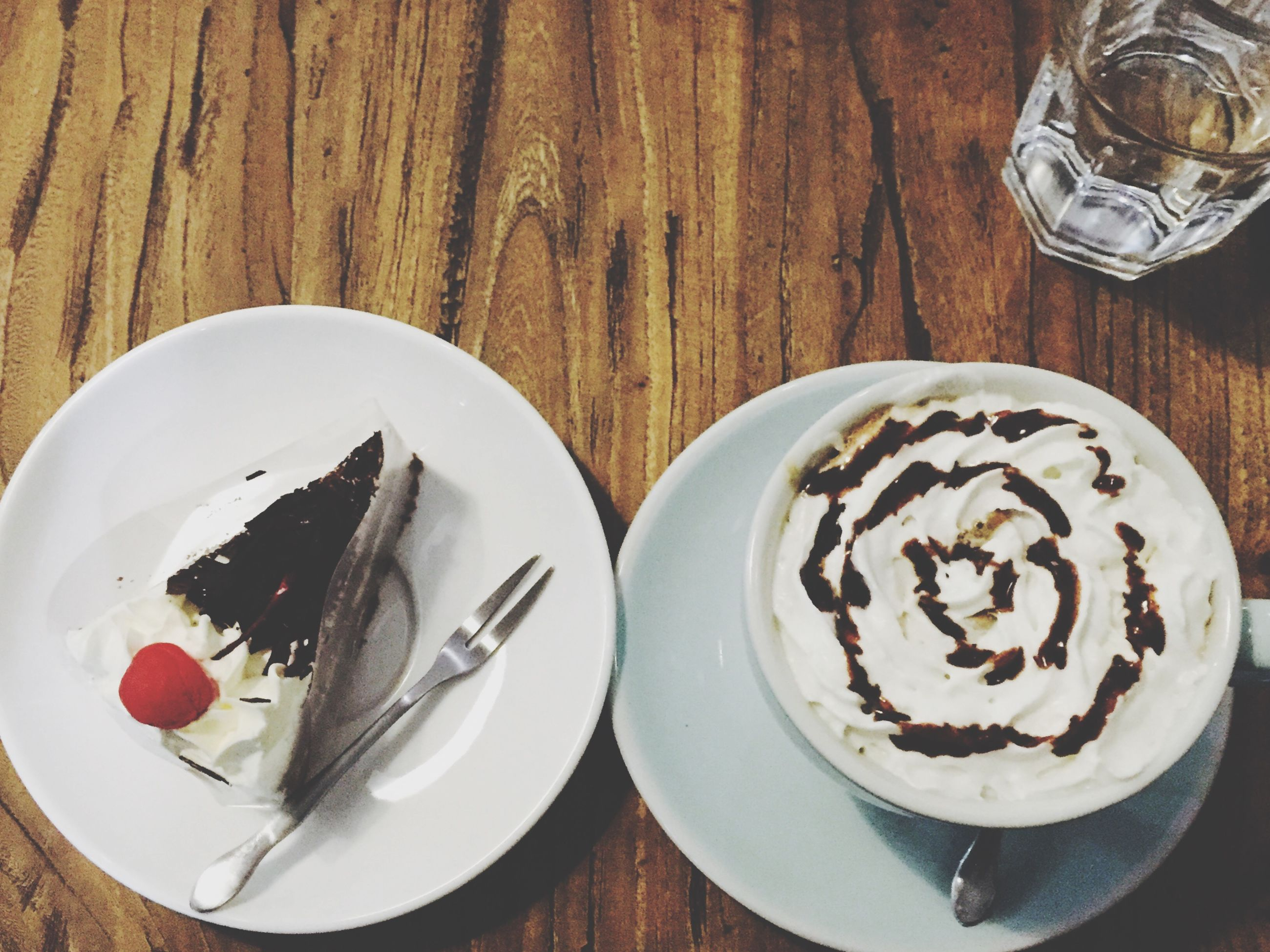 food and drink, table, freshness, indoors, drink, food, still life, plate, refreshment, ready-to-eat, sweet food, coffee - drink, coffee cup, saucer, high angle view, serving size, indulgence, dessert, breakfast, spoon