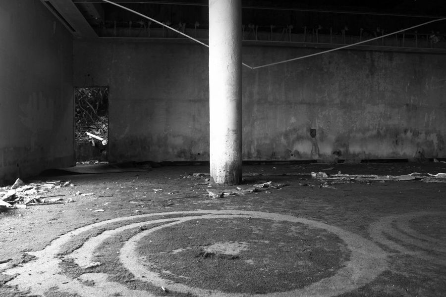 Absence Architectural Column Architecture Azores Bad Condition Black Building Built Structure Column Concrete Damaged Day Deterioration Dirty Empty No People Obsolete Old Oldhotel Portugal Run-down