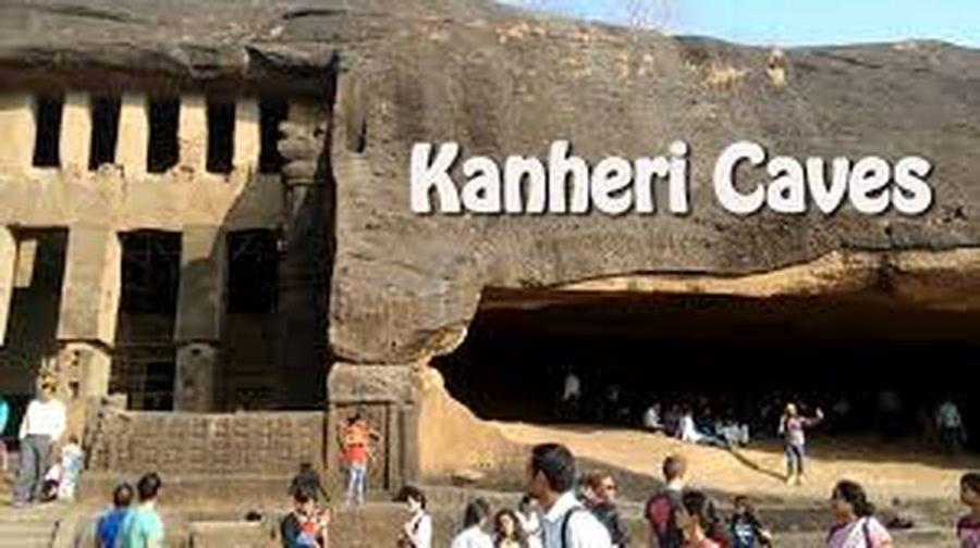 kanheri caves built in 1 st century. rock cut monuments. Built Structure