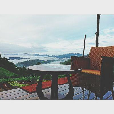 Foggy Morning Beautiful Surroundings Mountains Thailand