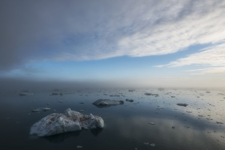 Cold warmth Beauty In Nature Blue Cloud - Sky Ice Iceberg Icebergs Nature Outdoors Reflection Scenics Sea Sea And Sky Sea Ice Sky Tranquil Scene Tranquility Water Lost In The Landscape